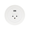 שקע חשמל ישראלי + MCS16-W,USB