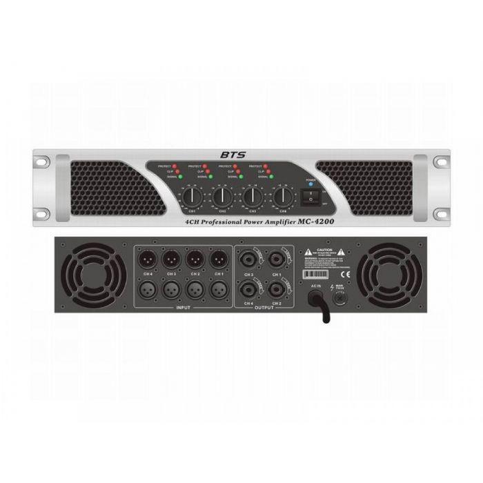מגבר 4 ערוצים BTS PA-MC-4400