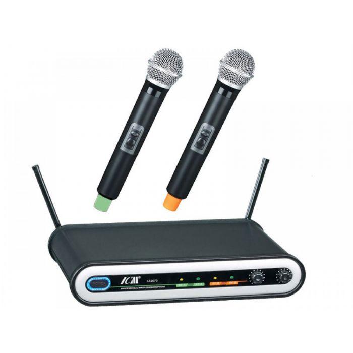 זוג מיקרופונים אלחוטיים ICM IU-2070