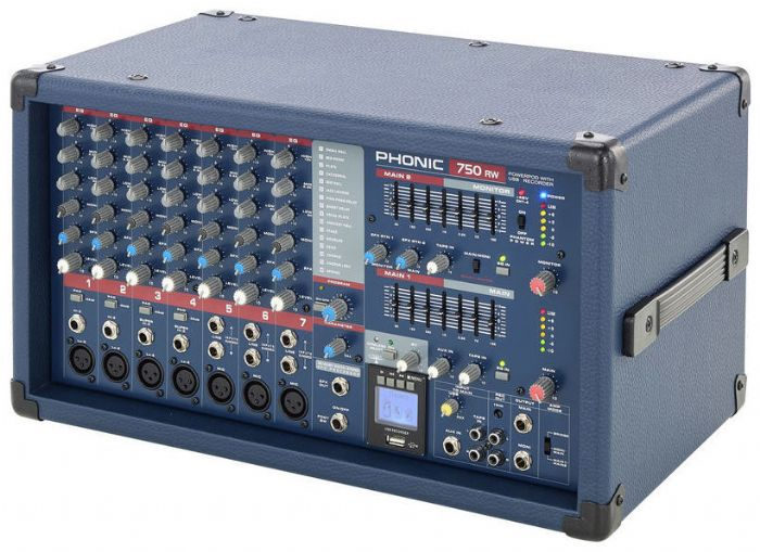 מיקסר מוגבר Phonic POWERPOD 750RW