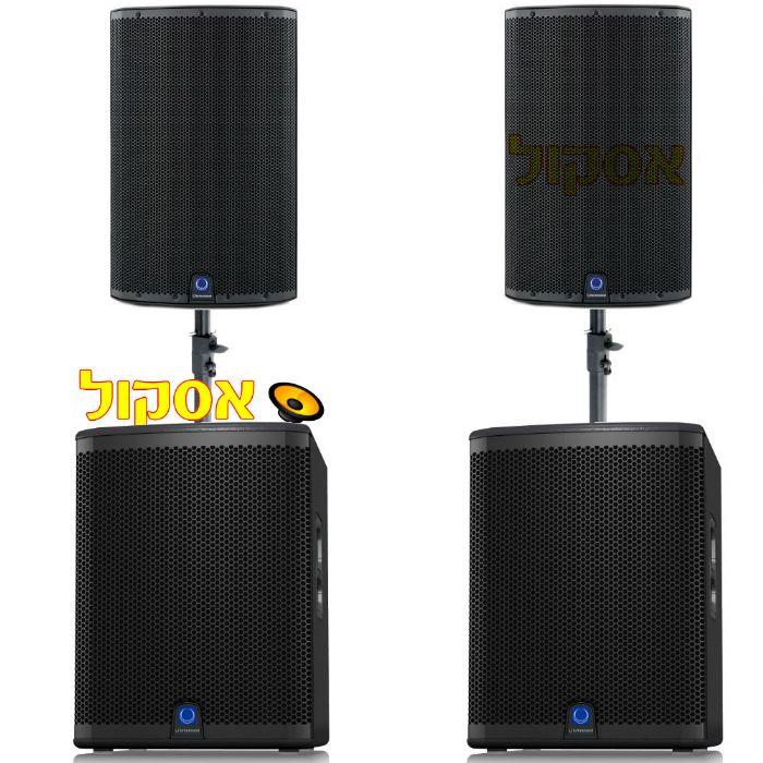 מערכת הגברה טורבו סאונד Turbosound IQ15B & IX15