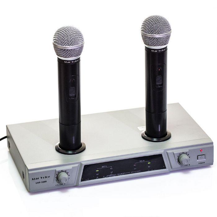 סט 2 מיקרופונים אלחוטיים Star Voice SV5200