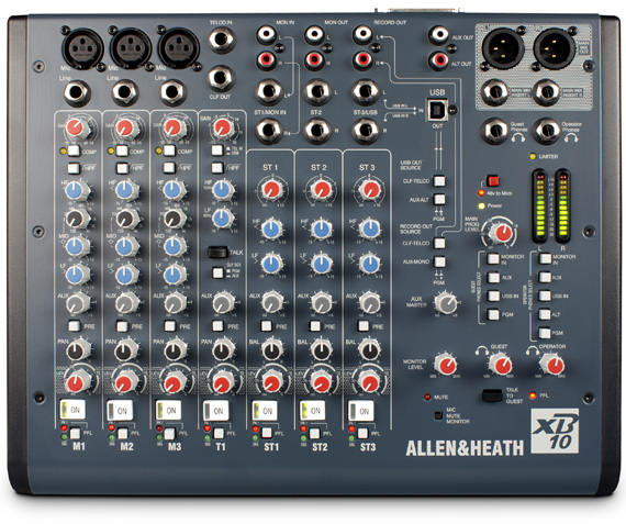 מיקסר שידור Allen & Heath XB-10 Compact Broadcast Mixer