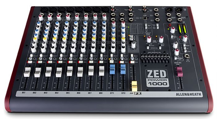 מיקסר מוגבר Allen & Heath ZED Power 1000