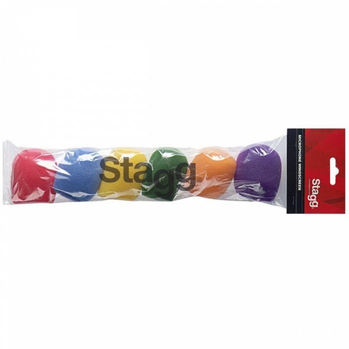 שישיית ספוגים בצבעים למיקרופון Stagg WS-S25/C6