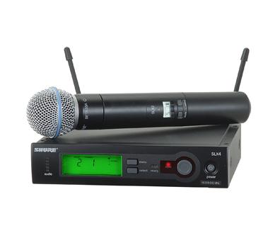 מערכת SLX אלחוטית עם מיקרופון יד דינמי Shure SLX24E/Beta58