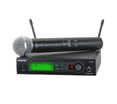 מערכת SLX אלחוטית עם מיקרופון יד דינמי Shure SLX24E/PG58