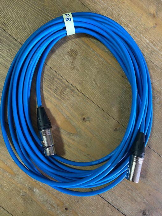 כבל XLR-XLR פרימיום בצבע כחול 8 מטר Lidge