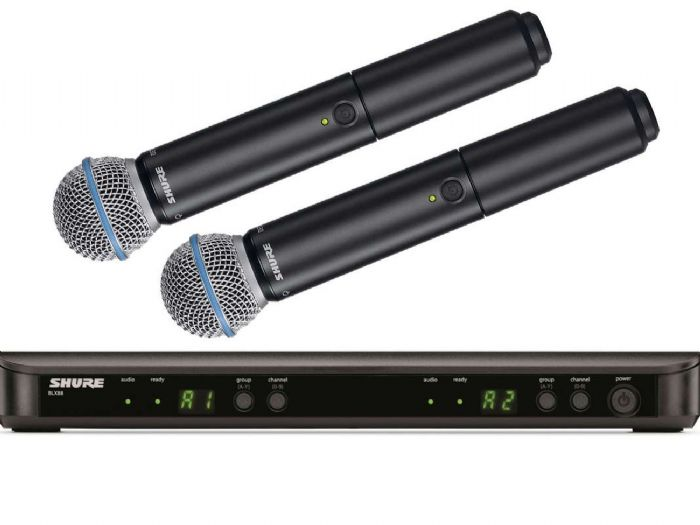 זוג מיקרופונים אלחוטיים Shure BLX288E/B58