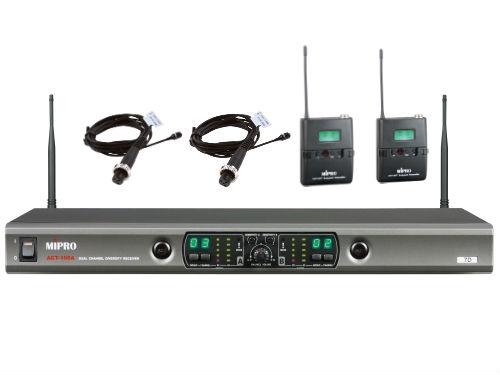 זוג מיקרופונים דש אלחוטיים Mipro ACT-100A