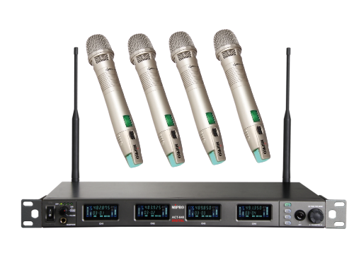 סט אלחוטי שידור דיגיטלי עם 4 מיקרופונים אלחוטיים Mipro ACT-848