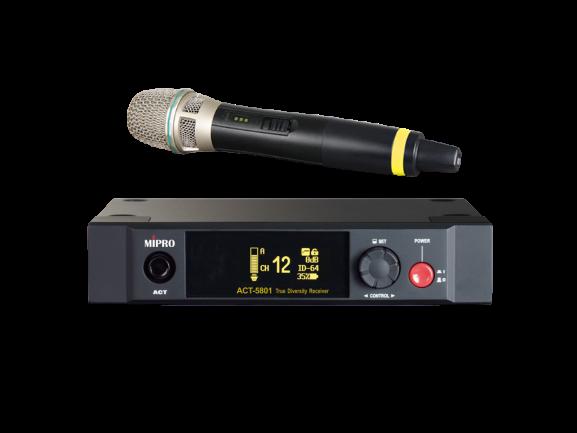 מערכת אלחוטית עם מיקרופון ידני Mipro ACT-5801