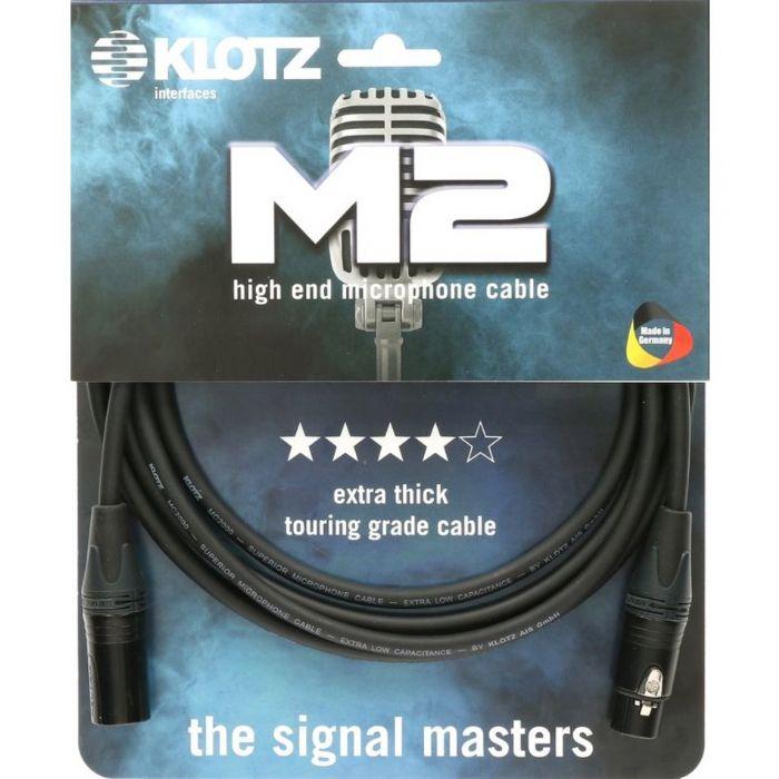 כבל מיקרופון 10 מטר XLR-XLR מחברים Neutrik Klotz