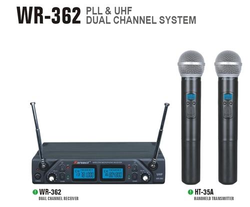 סט אלחוטי כפול 2 ידני תדרים משתנים KARSECT WR-362-HT-35A UHF