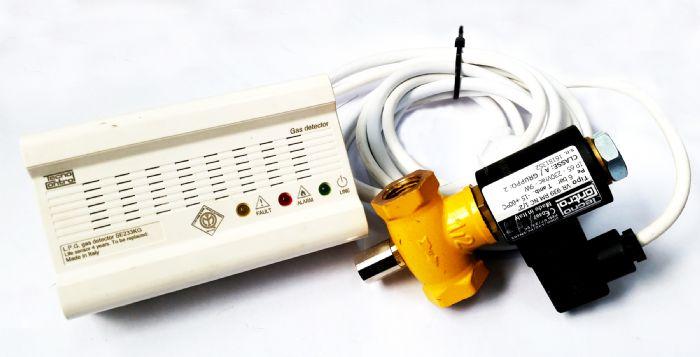 גלאי גז+ ברז חשמלי