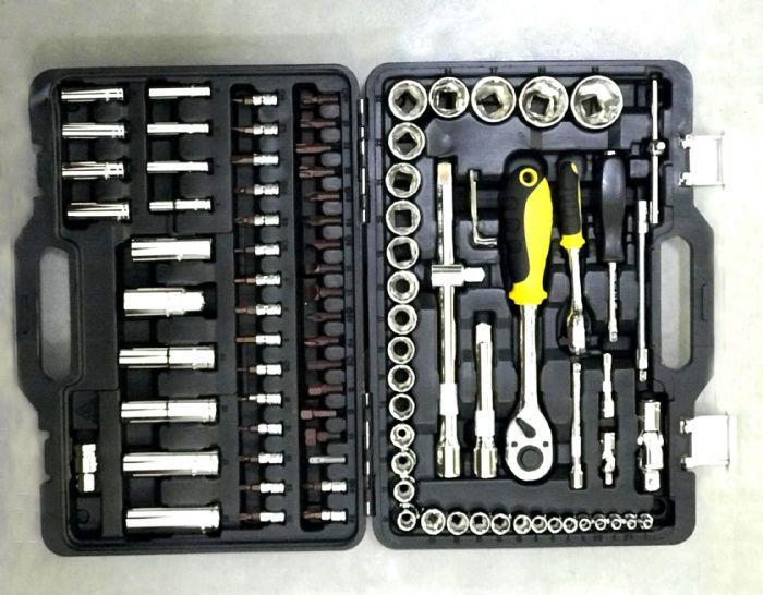 מזוודה משולבת ביטים+כלי עבודה 94 יחידות