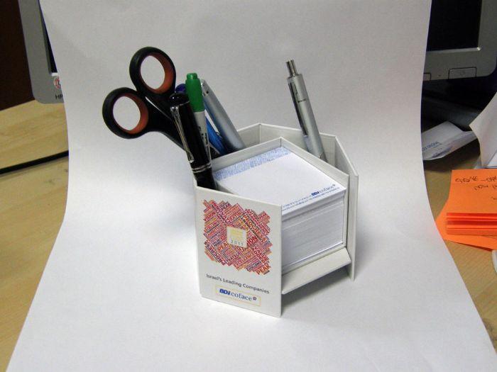 קופסא לדפי ממו בצורת כוורת