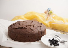 עוגת חלבון עם שוקולד ובננה