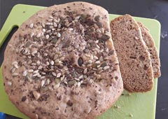 לחם ביתי קליל מקמח כוסמין מלא- אוסנת מזרחי