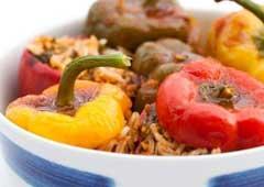 פלפל ממולא בבשר ואורז