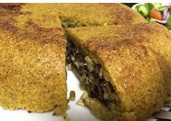 Bulgur Bake Filled with Chicken Breast