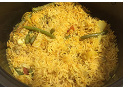 Vegetable Rice with Hints of Pullet
