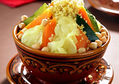 Vegetarian Couscous with Vegetables and Chickpeas