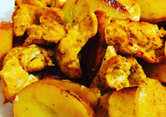 Chicken Breast and Potato Wedges