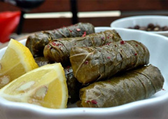 Vine Leaves, Zucchini and Lamb Dish