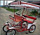אופני פארק לשני מבוגרים ושני ילדים