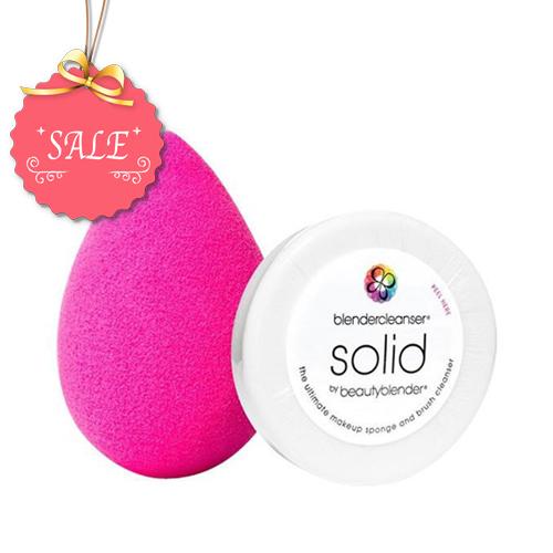 ביוטי בלנדר ספוגית + סבון ניקוי קטן מארז חיסכון BeautyBlender + Solid Cleanser
