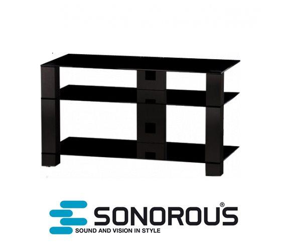 שולחן לסטריאו זכוכית אלומיניום SONOROUS PL3401