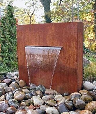 מזרקות קיר וילון מים לחוץ