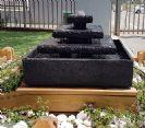 """מזרקות לגינה מבזלת מופחתת משקל מרובע 80 ס""""מ"""
