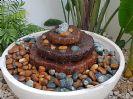 מפל מים עם  ברכה לגינה/מרפסת גזעי עץ