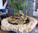 מזרקות טבעיות כורכר עם אבן כורכר מיוחדת