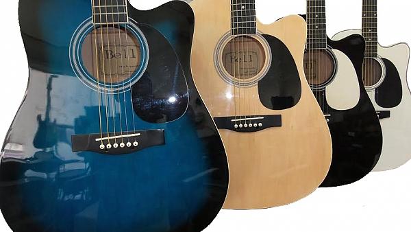 גיטרה אקוסטית מוגברת BELL בשלל צבעים