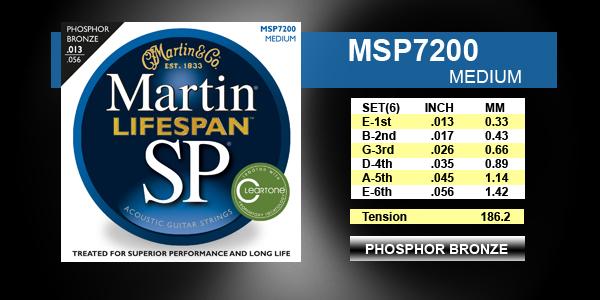 סט מיתרים 013 לאקוסטית MARTIN SP LIFESPAN MSP7200
