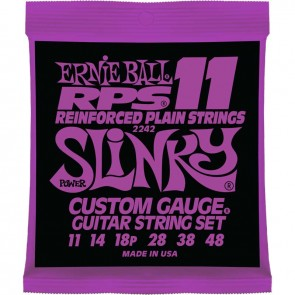 סט מיתרים לחשמלית סופר סלינקי Ernie Ball 2242 RPS Power Slinky Electric 11-48