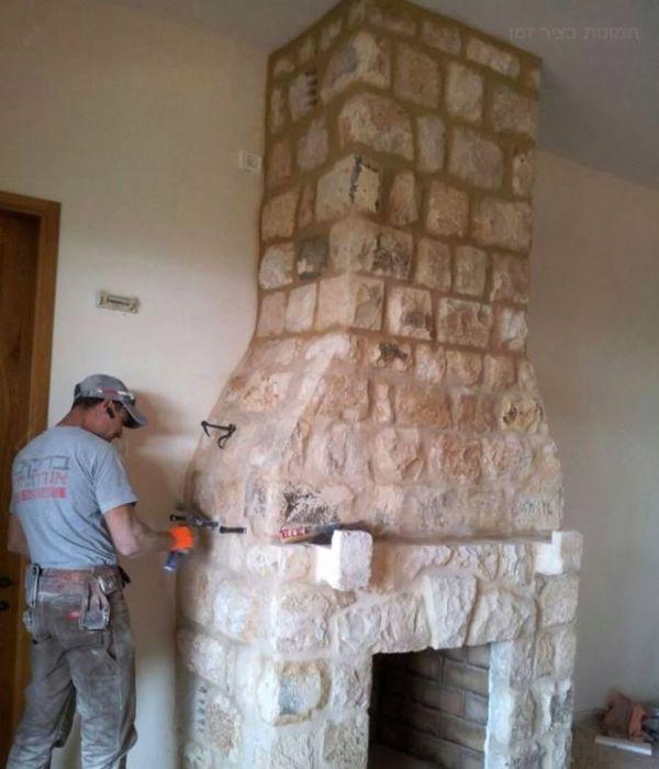 בניית קמין עבודת יד