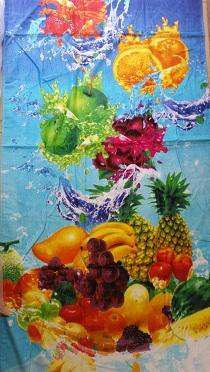מגבת חוף דגם פירות
