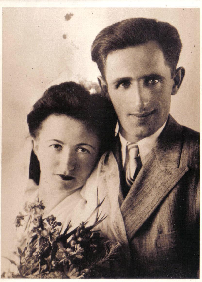 הורי אריה ומלכה זמצקי עידן ביום חתונתם