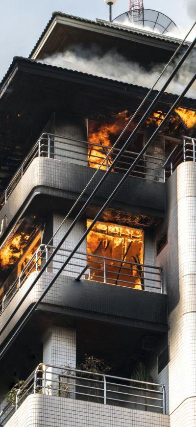 שריפה במבנה קיים