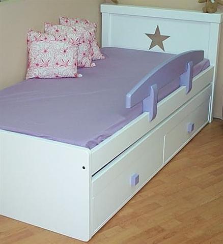 מיטת ילדים דגם כוכב + מיטת חבר נגררת