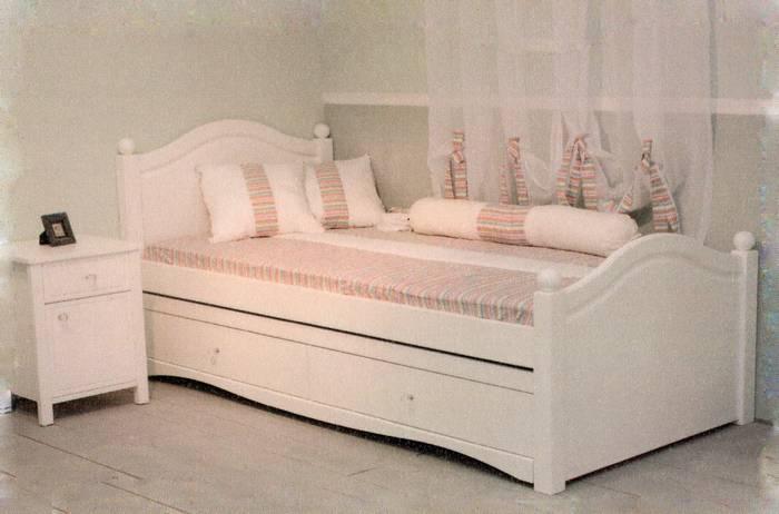 מיטת ילדים דגם מעיין + מיטת חבר נגררת