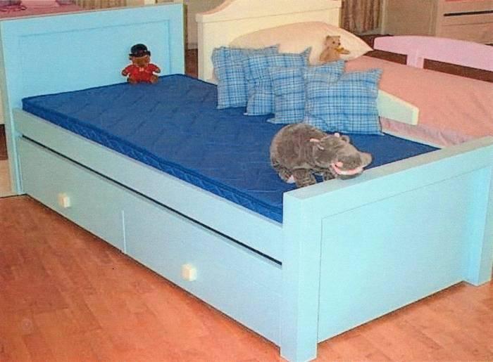 מיטת ילדים דגם סומו +מיטת חבר נגררת