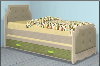 מיטת ילדים 190/80  דגם 336