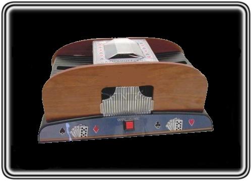 אזל במלאי, מערבב קלפים מעץ אוטומטי איכותי לפוקר