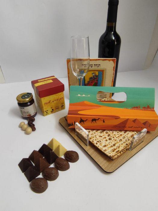 מצה של שוקולד, פרלינים ויין במארז משולב