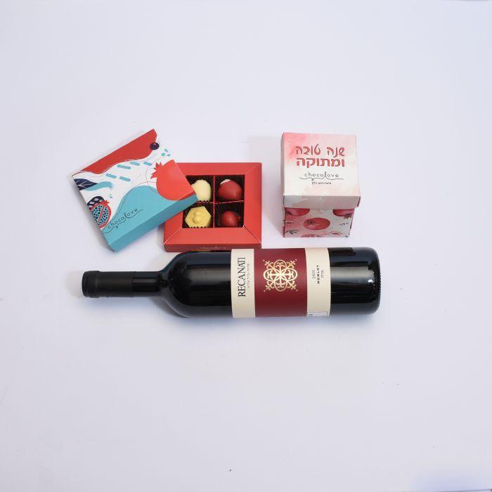 יין במארז שוקולאב מתוק